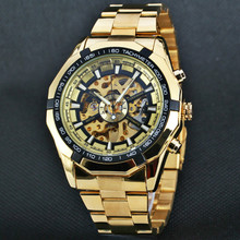 cd49464c3c457d FORSINING Watch Men Skeleton Automatic Mechanical Watch Gold Vintage Mens  Watch Top Brand Luxury Relogio Masculino