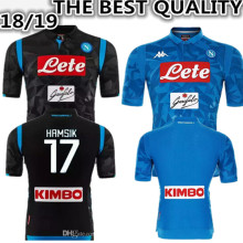 c08632d5e 2018 Napoli soccer jersey home away Champions League 18 2019 Naples  ZIELINSKI HAMSIK INSIGNE CALLEJON PLAYER ROG football shirt