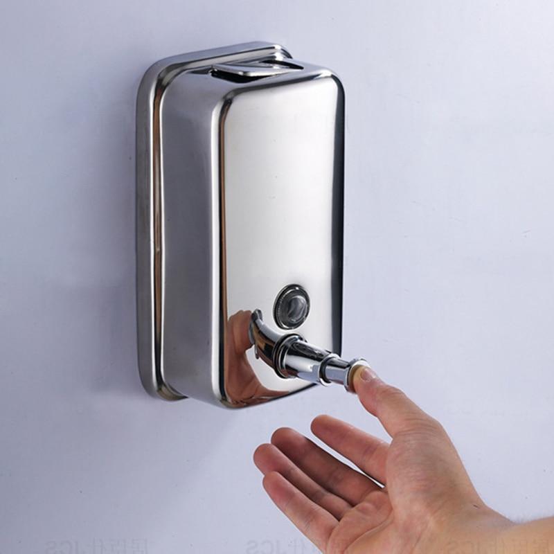 500ml 800ml 1000ml stainless steel hand soap dispenser - Wall mounted bathroom soap dispenser ...