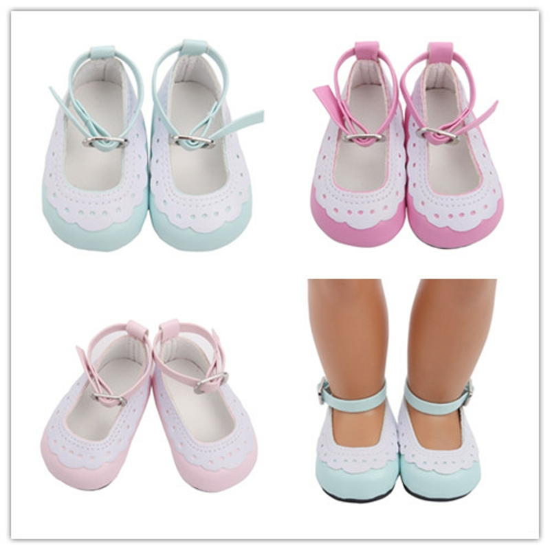 Toy Shoes 18 Inches Lace Binding Shoes Doll Toy Shoes Girl