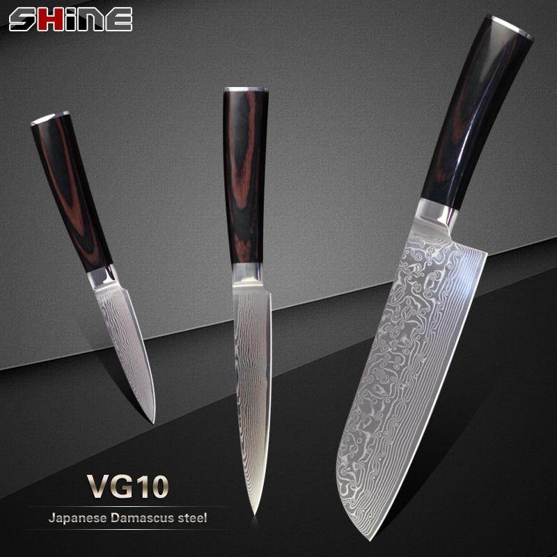 ξcheap 3 pcs set ᗖ damascus damascus kitchen knives xyj