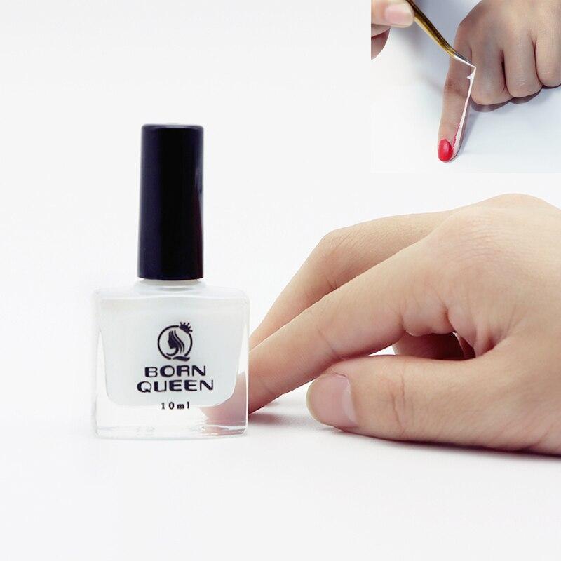 10ml Milk White Peel Off Liquid Tape Base Coat Odor free Nail Latex ...