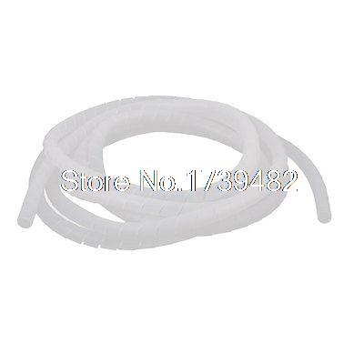 цена на Electrical Wire Cable Protection 12mm Dia Tube Spiral Wrap Hose 3.4M White