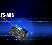 Original Flysky FS-A8S 2.4G 8CH Mini Receiver with PPM i-BUS SBUS Output For Rc Airplane Compatible FS-i4 FS-i6 FS-i6S