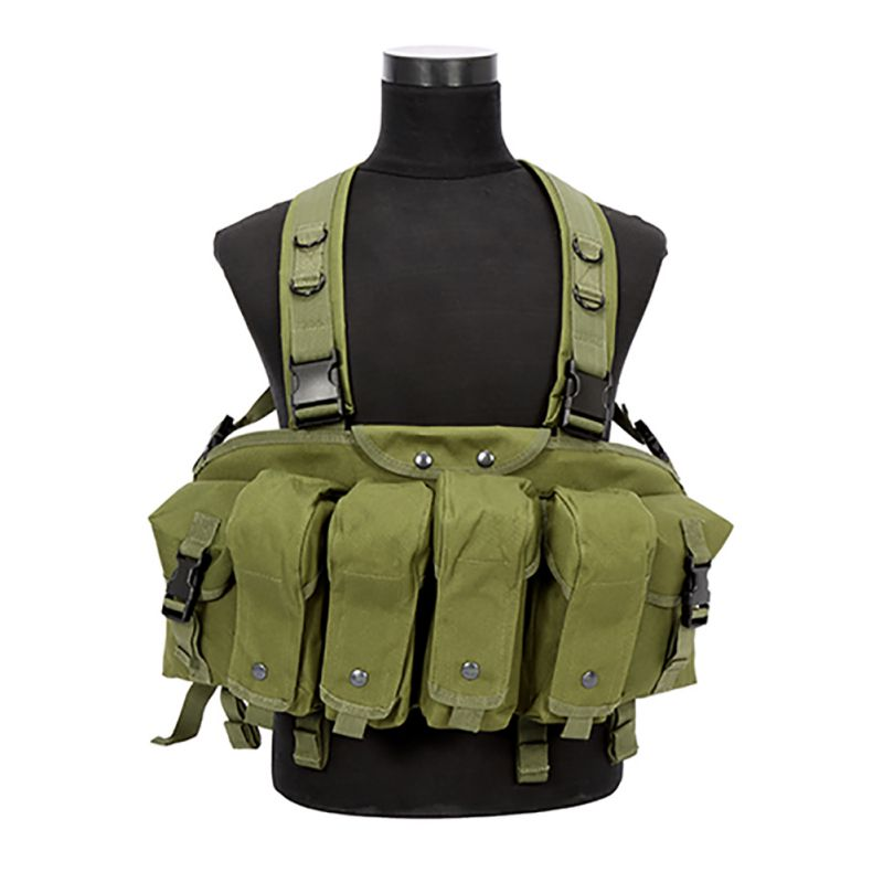Outdoor Hunting Military Camouflage War Game Tactical Vest Chest Rig AK 47 Combat Cothing New