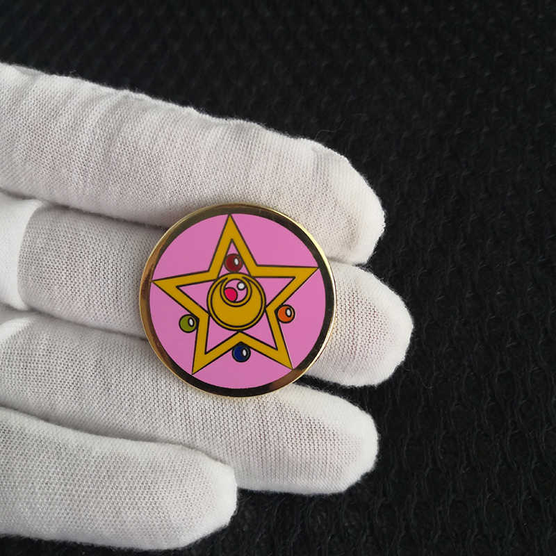 Sailor moon emaye pin harajuku kawaii Anime broş
