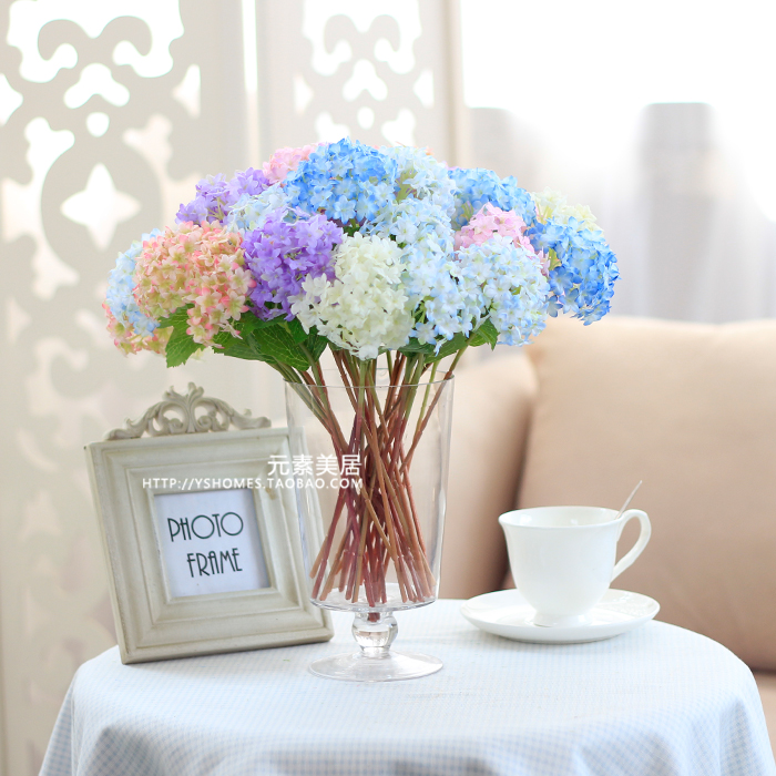 Free shipping,3pcs/lot,small mini guelder artificial flowers real touch. home decor.silk flower,Hydrangea flower