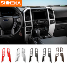 SHINEKA Central Control Console Air Vent Cover Trim Dashboard Panel Bezel for Ford F150 2015+ Car Styling shineka car styling interior cover instrument panel trim dashboard trim for ford mustang 2015