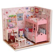 1:24 Handmade Doll House Furniture Diy Miniature Dust Cover Wooden Toys For Children Grownups Gift