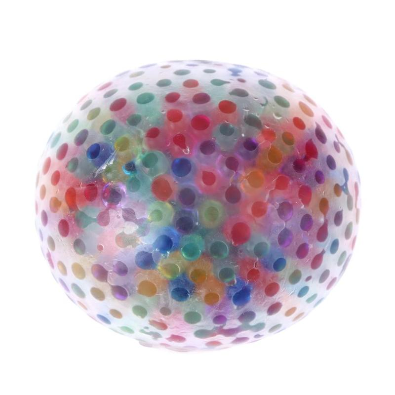 Novelty Anti Stress Toys Ball Elastic Squeeze Crystal Balls Stress Reliever Toys Funny Fantastic Toys for Baby Adult Release стоимость