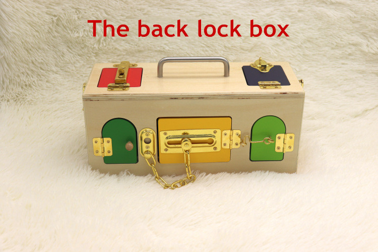 Montessori jouets 3 ans serrure boîte Montessori matériaux sensoriels éducatifs en bois jouets pour enfants Montessori bébé jouets - 5