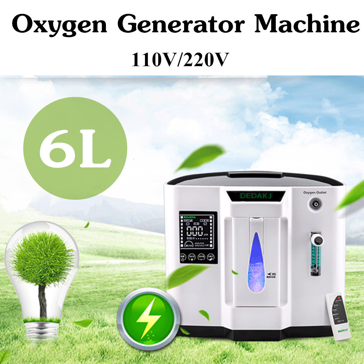 DDT-1A 110V US/220V EU 120W Oxygen Concentration Oxygen Concentrator 30-90LED Display Touch' Screen Portable System-board Oxyge цена