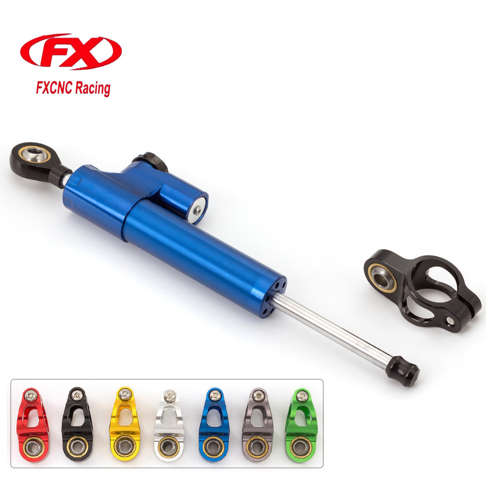 Fx CNC Universal Aluminum Motorcycle Steering Dampers Stabilizer For Yamaha YZF R1 1998-2001 1999 2000 2001 Moto Accessories 65mm universal throttle body cnc t6 aluminum red 40001