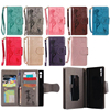 PU Leather For LG K7 K8 K10 Embossed Woman And Cat Wallet Mirror Cover Protective Phone