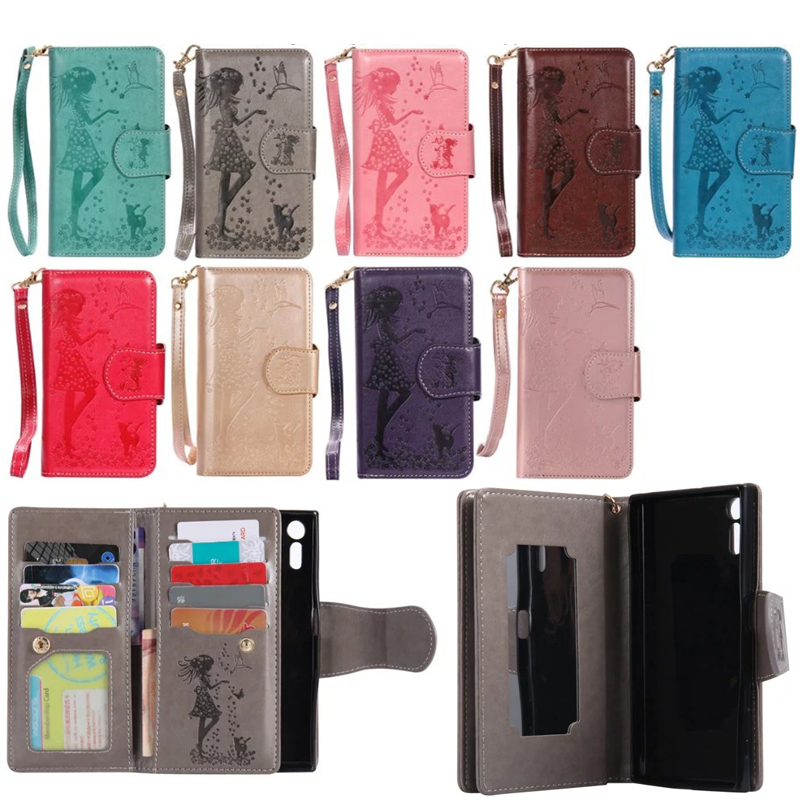 PU leather For LG K7 K8 K10 Embossed woman and <font><b>cat</b></font> Wallet mirror Cover Protective <font><b>Phone</b></font> Bag For LG <font><b>Nexus</b></font> <font><b>5X</b></font> X power 5.3&#8217;Shell