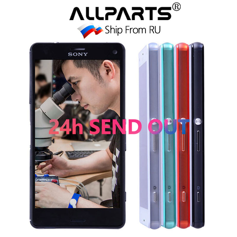 ORIGINAL Touch Screen LCD For SONY Xperia Z3 Compact Display Frame Z3 Mini D5803 D5833 Digitizer For SONY Xperia Z3 Compact LCD