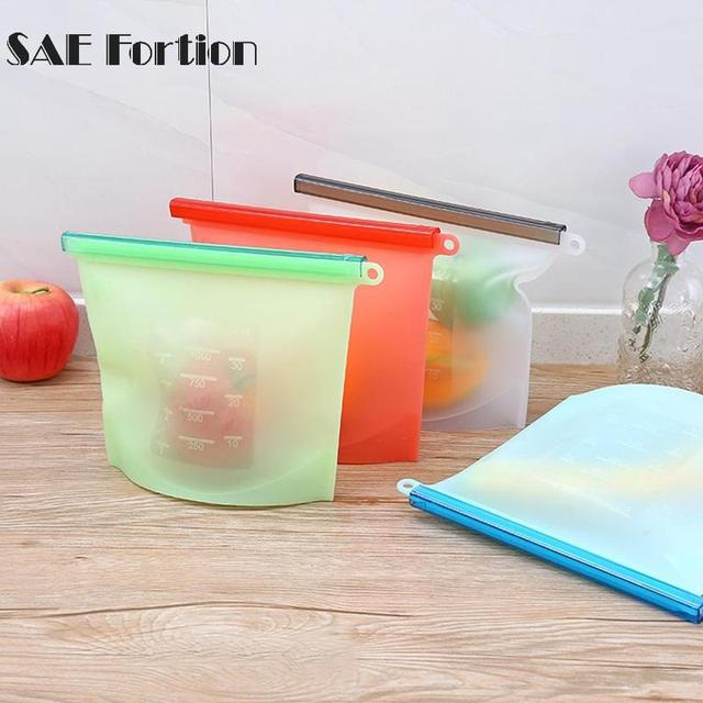 Silicone Vacuum Food Fresh Bags Wraps Fridge Food Storage Containers