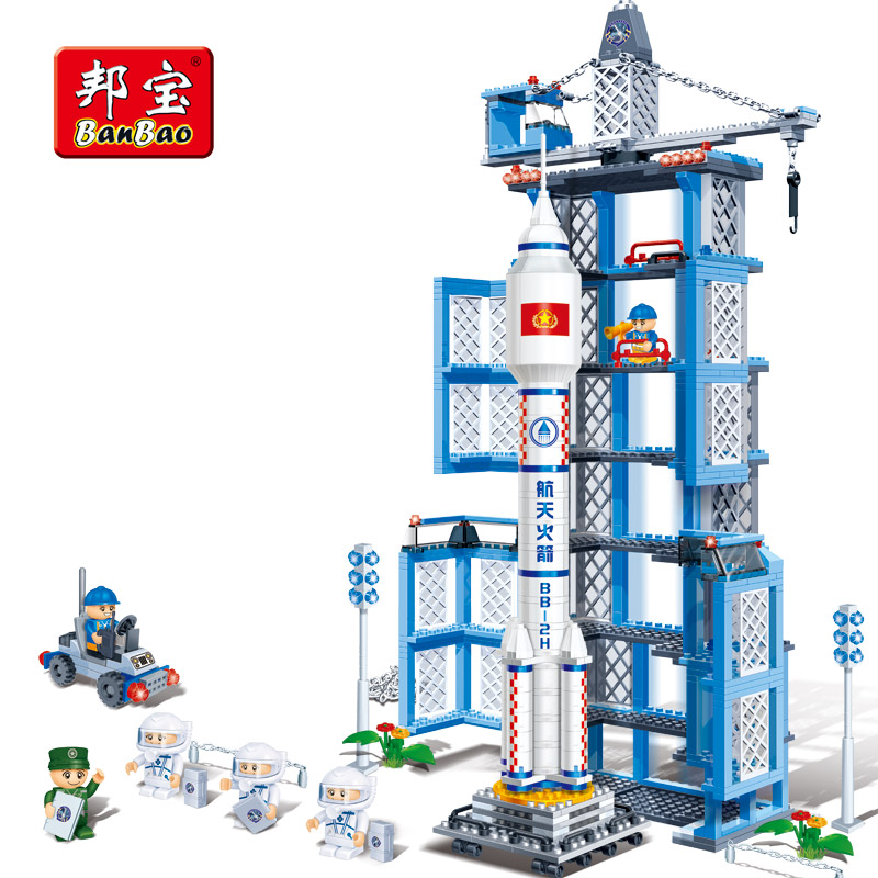 BanBao 6401 Aviation Rocket Aircraft Bricks Educational Building Blocks Model Toy For Children Kids Friend Compatible With legoe sluban b0367 aviation series international airport building blocks transport aircraft vehicle bricks toys