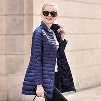 NEW Brand Designer Winter Jacket Women Long White Duck Down Jacket Outwear Ultralight Hooded Thin Coat