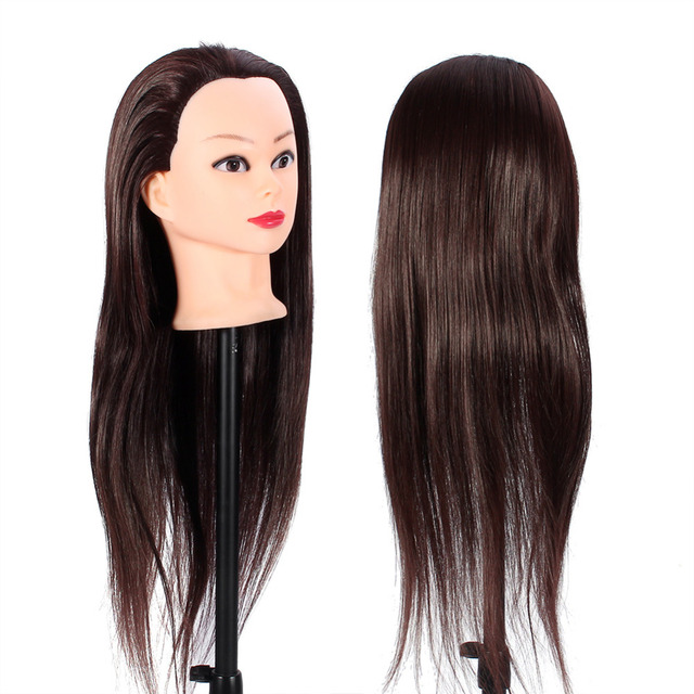 60cm Long Hair Manikin Mannequin Wig Head Hairdressing Styling Training Practice Model