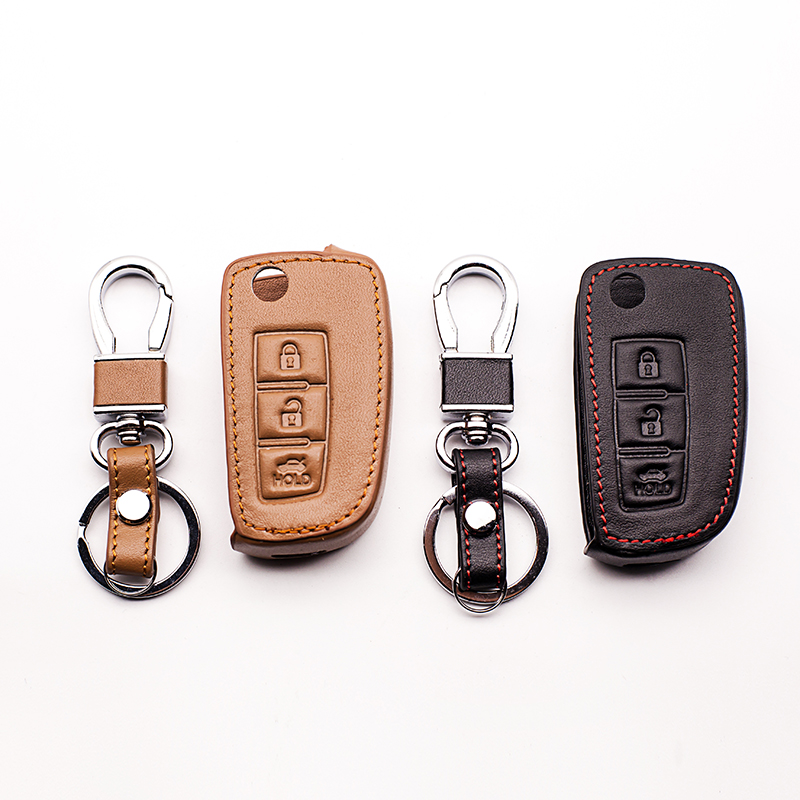 High quality leather key cover Leather Key Case For Nissan Qashqai X trail-Murano MAXIMA ALTIMA Juke ect. SHELL KEY ACCESSORIES