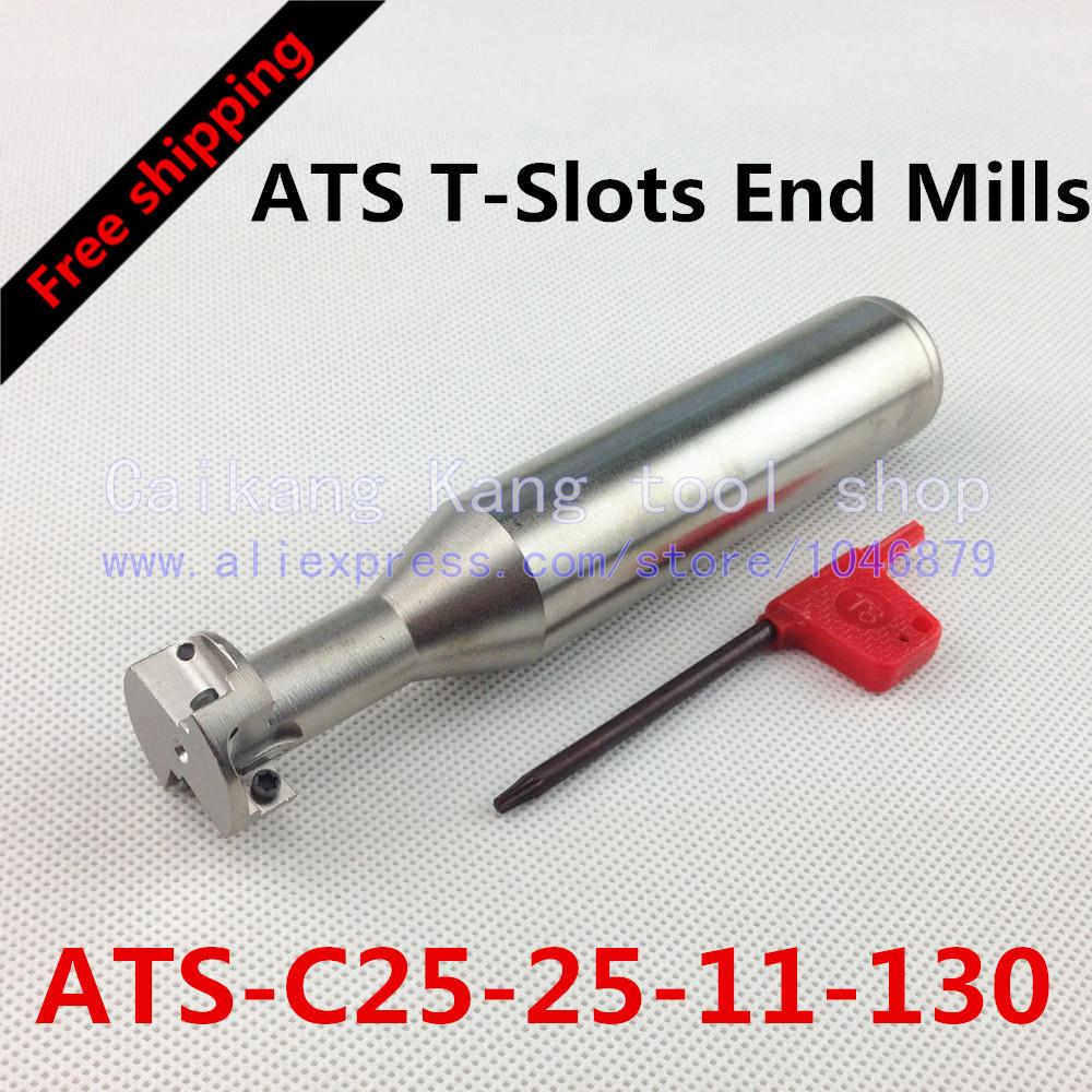 Free shipping New ATS-25-11 Face End Milling Cutter T-Slots End Mills ATS-C25-25-11-130