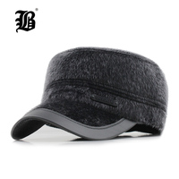 FLB 2017 New Winter Baseball Cap With Ear Flaps Men S Cotton Winter Keep Warm
