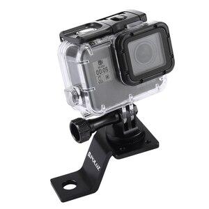 Image 4 - دراجة نارية ترايبود جبل قوس مع المسمار نك الألومنيوم حامل ثابت ل GoPro 8 7 6 5 SJCAM DJI Osmo عمل كاميرا اكسسوارات
