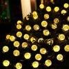 Solar Outdoor String Lights 20ft 30 LED 7 Mode Crystal Ball Globe For Halloween Thanksgiving Valentie