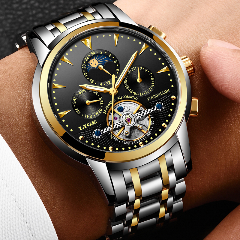 Mens Watches New LIGE Top Brand Luxury Mens Automatic Mechanical Watch Mens Fashion Business Waterproof Watch Relogio MasculinoMens Watches New LIGE Top Brand Luxury Mens Automatic Mechanical Watch Mens Fashion Business Waterproof Watch Relogio Masculino