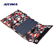 AIYIMA 7.5W Solar Panels Portable Folding Foldable Waterproof Solar Panel Charger Power Bank for Phone Battery Charger