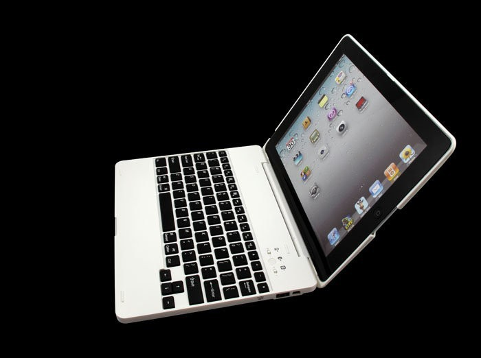 Rechargeable bluetooth keyboard Case for iPad 2,ipAd 3 ,Built-in 4000mAh Battery can charge keyboard