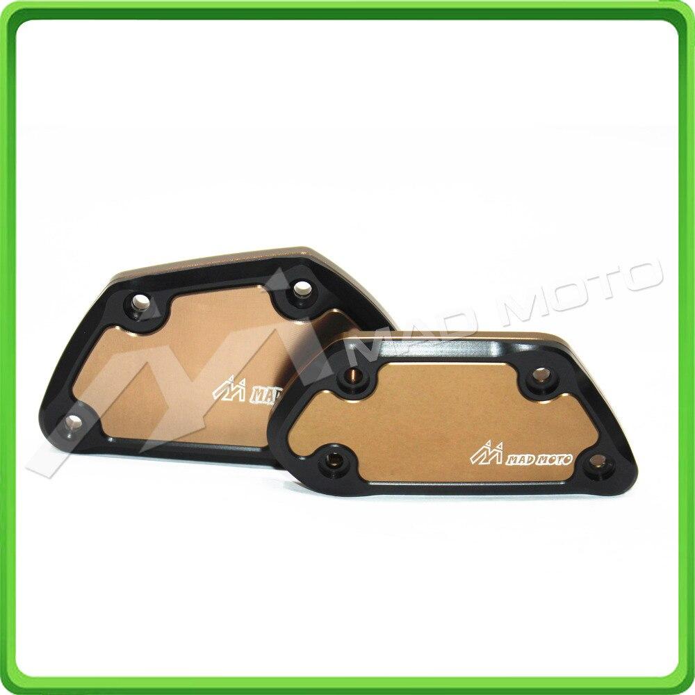 CNC Front Clutch & Brake reservoir cover set For 2013 2014 2015 BMW R1200GS R1200 GSA ADV Adventure Water-Cooled Titanium color adjustable long folding clutch brake levers for bmw r 1200 gs adventure r12w 14 15 16 2014 2015 2016 r1200r rs 13 2013
