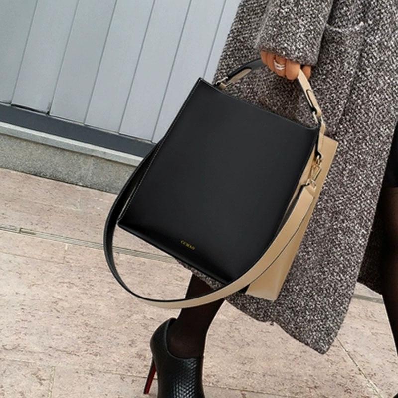 New bags fashion women bag vintage women leather handbags Shoulder Messenger bags snake ladies bags bolsas feminina Tote D204