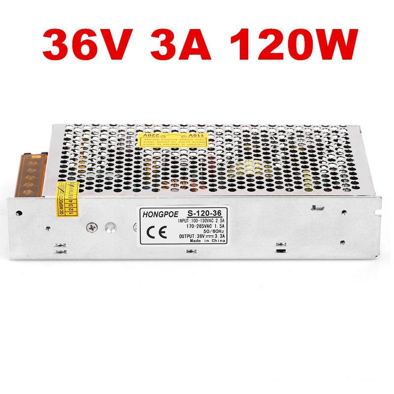 24PCS120W 36 V alimentation 36 V 3.3A AC-DC 110/230VAC DC36V S-120-36