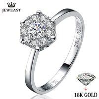18 k oro anillo de diamantes boda proponer regalo muchacha de las mujeres mujer $ NUMBER CT 2CT 3CT Grupo incrustaciones de Lujo auténtico nuevo de Gran tamaño personalización