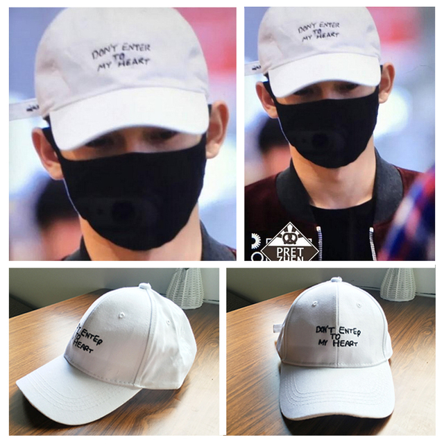 KPOP EXO Chen style white sunshade fashion hip-hop cap hat of street dance Sun hat baseball cap