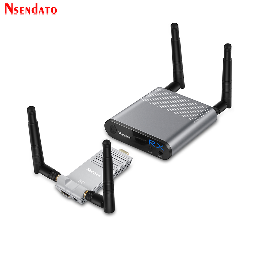 Ar Measy Mini 200 m/656FT 2.4 ghz/5 ghz HDMI WI-FI Sem Fio Extensor De Áudio E Vídeo Remetente Transmissor kit receptor Com IR Loop Out