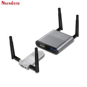 Image 1 - Measy Air Mini 200M/656FT 2,4 ГГц/5 ГГц Беспроводной Wi Fi HDMI аудио видео удлинитель передатчик приемник комплект с ИК выходом