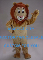 Jr. Lion Mascot Costume Adult Size Young Male Lion Wild Animal Theme Carnival Party Cosply Mascotte Suit Kit SW1020