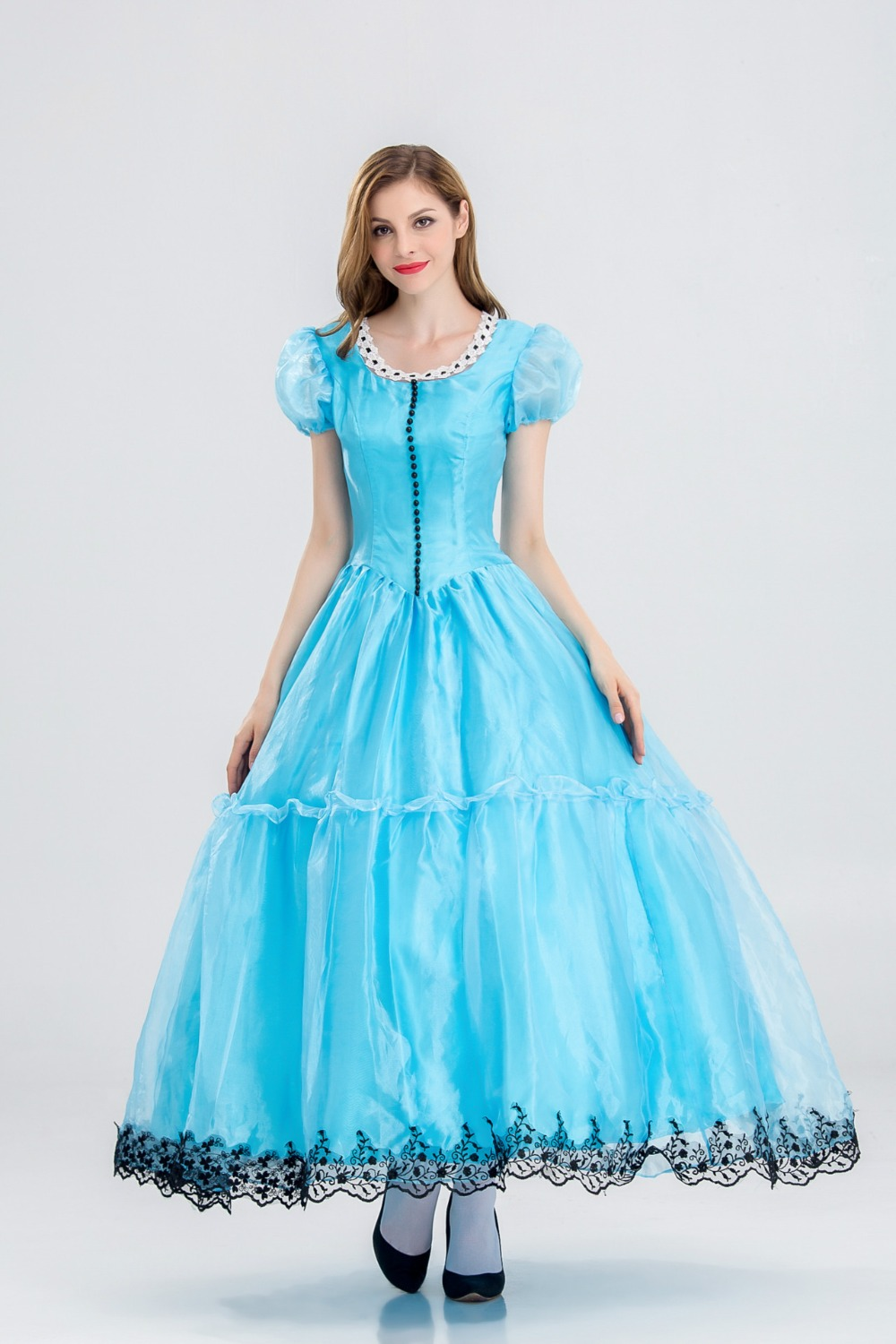 New Halloween fantasy fairyland blue fairy tale princess queen costume costume-in Scary Costumes from Novelty u0026 Special Use on Aliexpress.com | Alibaba ...  sc 1 st  AliExpress.com & New Halloween fantasy fairyland blue fairy tale princess queen ...