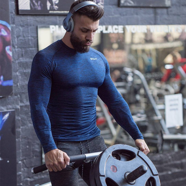 37340bd440d7 2017 Muscular aesthetic fitness long sleeve bodysuit stretch brothers men s  coat