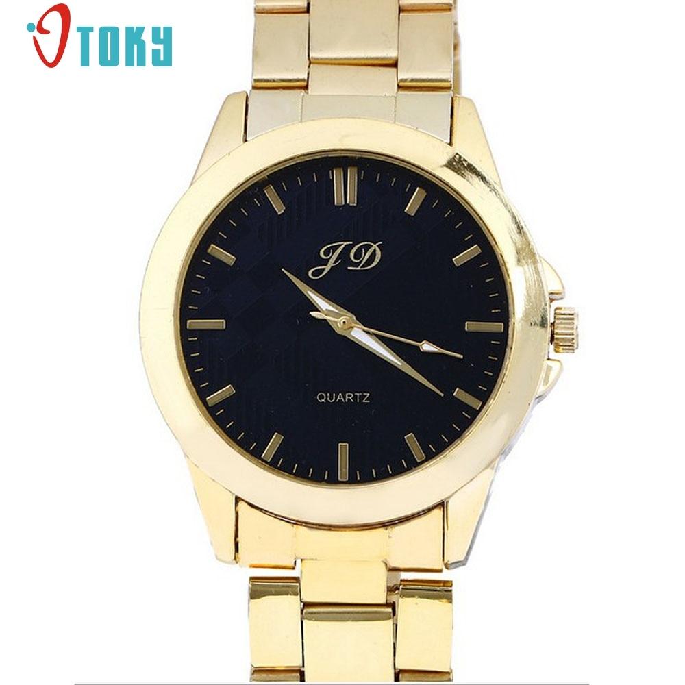 OTOKY Male Wristwatch Luxury Men Golden Classic Analog Quartz Stainless Steel Wrist Watch relogio masculino #30 1pcs feiwo 8090g alloys plating analog quartz wrist watch for men black golden silver