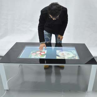 Promotion! Best price 84 Real 6 Points lcd interactive touch foil film through glass shop window for touch kiosk, table etc
