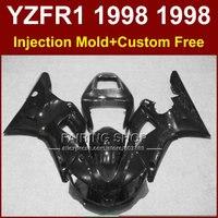 사출 바람막이 키트 야마하 YZF R1 YZF1000 98 99 오토바이 블랙 페어링