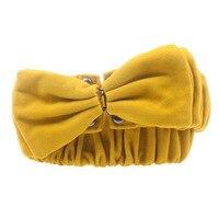 Vohio amarillo para las mujeres gran manera de Europa cinturon ancho mujer franela bowknot señora femenina de ancho elástico faja cinturón marca