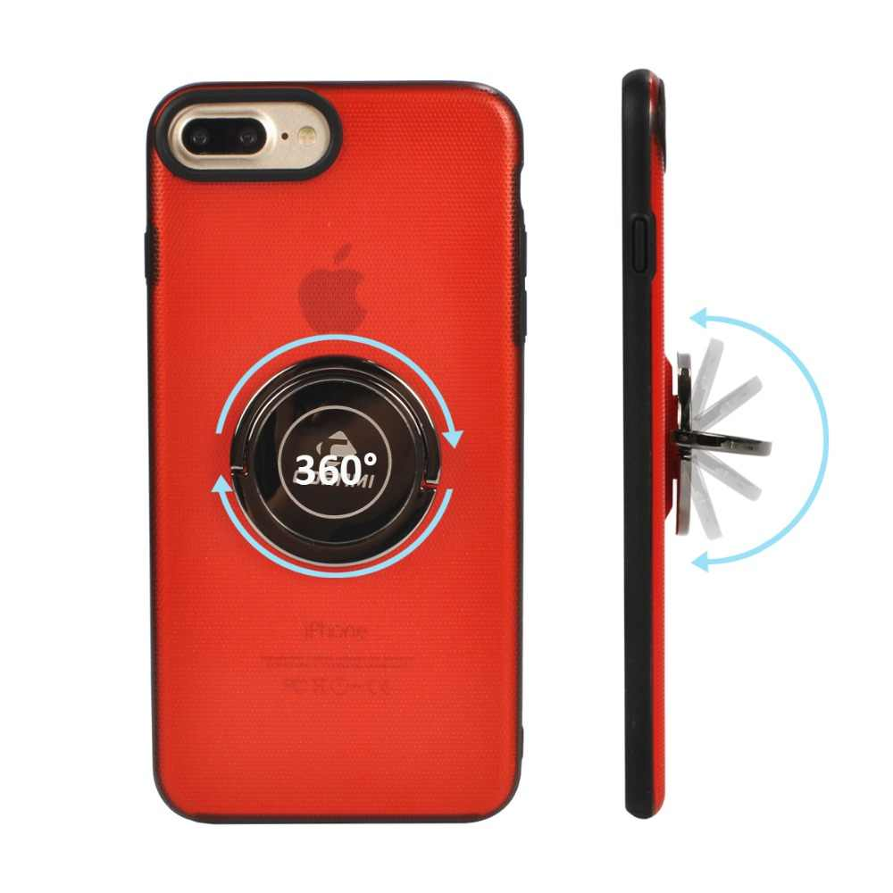 CORNMI For iphone 7 8 Plus 360 Finger Ring Phone Cases With Hide Stand Holder Cover 7 8+