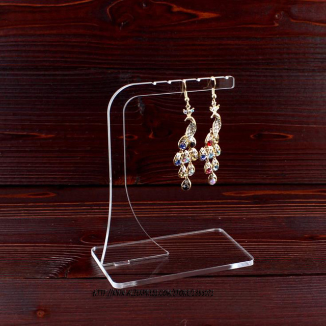 Whole 10pcs Clear Acrylic Earring Display Hanger Holder Bracelet Hanging Rack Bangle Stand Necklace