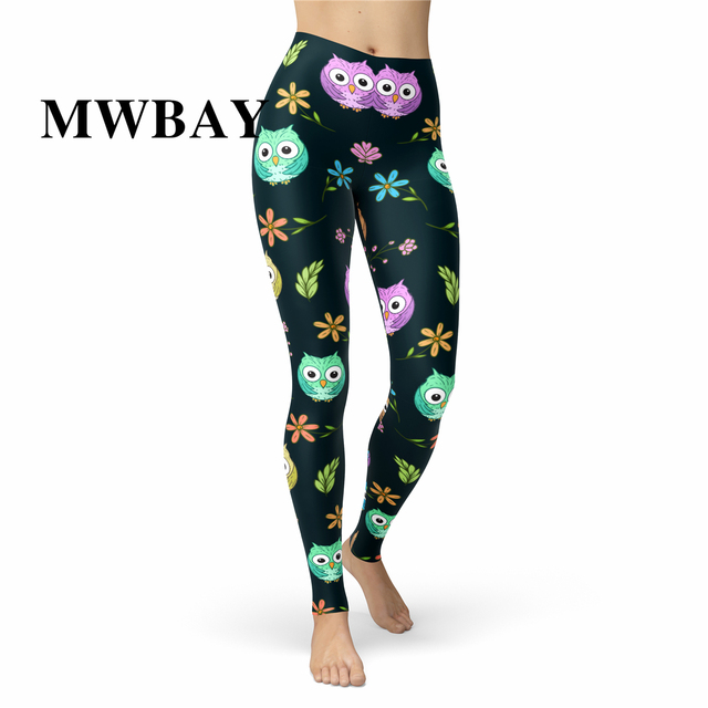 9789e7764dde7 Yoga waistband Custom Leggings Brushed 92 Polyester 8 Spandex Peach Skin  Owls Women Buttery Soft Animal Pants