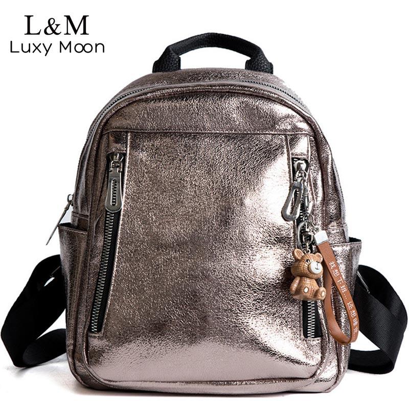 Women PU Leather Backpack Mini Backpack Cute Back Pack Rucksack For Teenage Girls Small School Bags 2020 Feminine Mochila XA545H